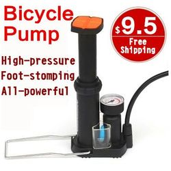2016 New High-pressure Bicycle Pump Pedal Cycling Pumps Straddling Inflator Mountain Bike Mini Portable Sale Bicycle Accessories