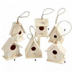 Drewniany domek dla ptaków - wzór IV