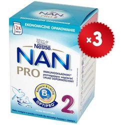 Zestaw 3xNESTLE NAN PRO 2 800g (2x400g) Mleko następne z B.Lactis dla