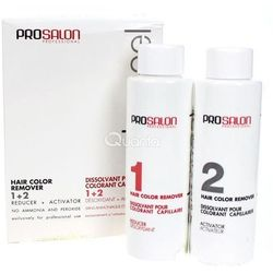 ProSalon Color Peel Hair Color Remover 1+ 2 - Dekoloryzator do włosów, 2 x 100g