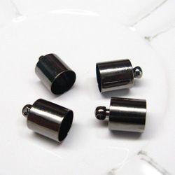 Metalowe oksyda- końcówki do linek rzemieni 7,5mm(para)