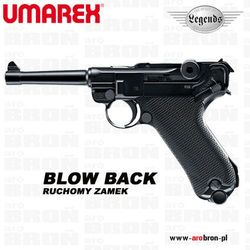 Wiatrówka Umarex LEGENDS P.08 Parabellum Luger BLOW BACK 4,46