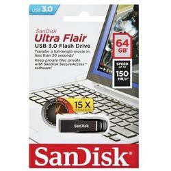 Pendrive SanDisk Ultra Flair USB 3.0 Drive 64GB - Szybka wysyłka