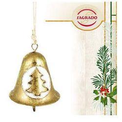 Ozdoba choinkowa - złoty dzwoneczek - metaloplastyka