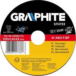 Tarcza do cięcia GRAPHITE 57H733 125 x 1.0 x 22.2 mm do metalu Inox