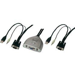 Przełącznik KVM VGA, Digitus DS-11200, USB, 2048 x 1536 px, Ilość przełączalnych PC: 2