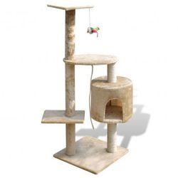 Drapak dla kota 114 cm 1 domek, beż Zapisz się do naszego Newslettera i odbierz voucher 20 PLN na zakupy w VidaXL!