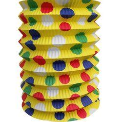 Rozkładany imprezowy lampion żółty