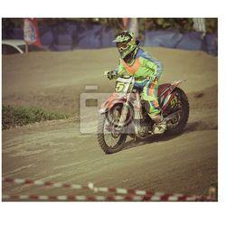 Fototapeta motocross w Bali