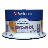 Verbatim DVD+R 8x 8.5 GB 50P DL Printable