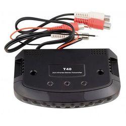 NVOX T40 Nadajnik transmiter IR dwukanałowy na słuchawki bezprzewodowe