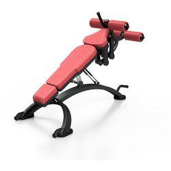 Ławka regulowana na brzuch MF-L005 - Marbo Sport - bordowy \ antracyt metalic