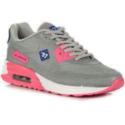 McArthur S15-F-NP-05-PK szaro-różowe buty damskie sportowe na koturnie do biegania