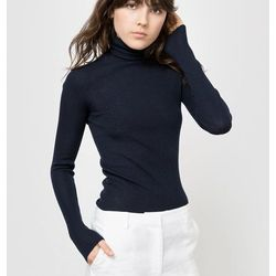 Sweter z włóczki skarpetkowej