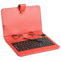 Etui z klawiaturą TRACER do tabletu 7 cali Red Micro