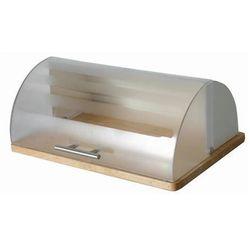 Chlebak kremowy na podstawie drewnianej Logan