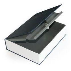 Skrytka książka na dokumenty, pieniadze niebieska