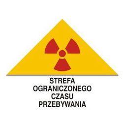 Znak ostrzegawczy do oznakowania strefy ograniczonego czasu przebywania