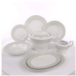 Zestaw obiadowy dla 12 osób porcelana Chodzież Venus