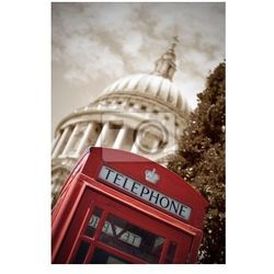 Plakat Budka telefoniczna London i St Paul 's