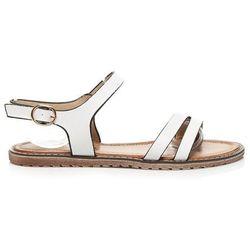 Klasyczne sandały płaskie Amaranta - biały