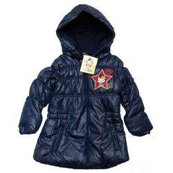 Hello Kitty długa kurtka zimowa dla dzieci -płaszczyk Granatowy