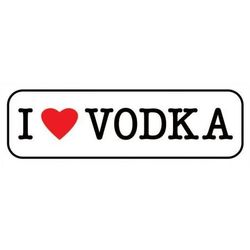 I Love Vodka - plakat