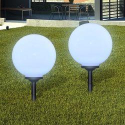 vidaXL Ogrodowe lampy solarne LED 30cm, 2szt z uziemieniem Spike Darmowa wysyłka i zwroty