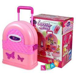 Rozkładany domek dla lalek walizka + meble