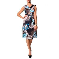 Niebiesko-beżowa sukienka