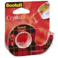Taśma klejąca biurowa Scotch Crystal krystaliczna na podajniku 19mm x 7.5m