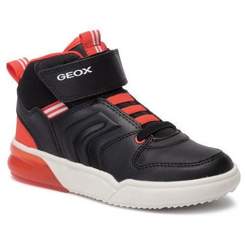 Sneakersy GEOX J Kommodor G. B J844HB 05402 C1335 Dk SilverLilac