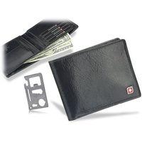 848eb002e5b5e Genevian Damski Skórzany Czarny portfel 2309 - porównaj zanim kupisz
