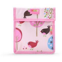 Penny Scallan Design, torebka na przekąski, wielokrotnego użytku, różowa w ptaszki Darmowa dostawa do sklepów SMYK