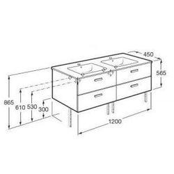 ROCA Victoria Basic Unik szafka z szufladami orzech + umywalka 120 A855850222