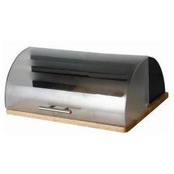 Chlebak czarny na podstawie drewnianej Logan