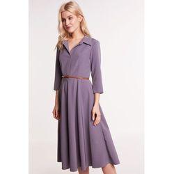 b049d850fe suknie sukienki dolly rozowa rozkloszowana trapezowa sukienka (od ...