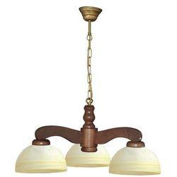 Lampa wisząca żyrandol TEMIDA 3xE27/60W orzech