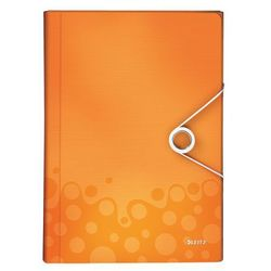 Teczka harmonijkowa Leitz Wow 6 przegródek, 4589 pomarańczowa