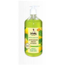 Mydło domowe miętowo cytrynowe z mydlnicą lekarską 1 l - receptury babuszki agafii