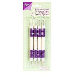 Zestaw dwustronnych ołówków do wytłaczania (4szt)