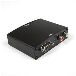 4world Konwerter HDMI VGA + R/L Aud to HDMI