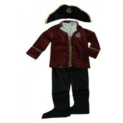 Wspaniały Strój dla małego Pirata na bal karnawałowy, aż 5 elementów. Wielokolorowy