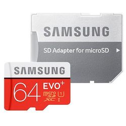 Karta pamięci microSDXC Samsung EVO+ 64GB UHS-I U1 class 10 + adapter do SD