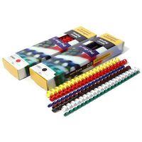 Grzbiety do bindowania plastikowe, żółte, 32 mm, 50 sztuk, oprawa do 300 kartek