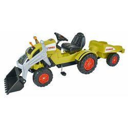 Big, Pojazd na pedały, Traktor Claas z przyczepą i łyżką Darmowa dostawa do sklepów SMYK