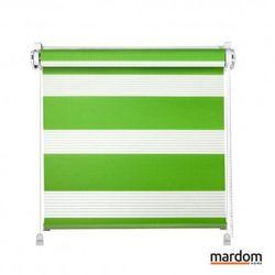 Roleta Dzień i Noc Zielony : Rozmiar mini rolet - 68x215 (Balkonowe), kolor mechanizmu rolety - Biały