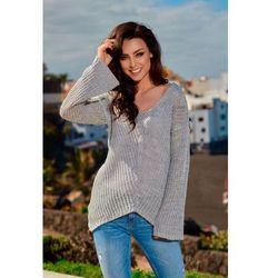 1c93150f7b3352 swetry damskie czarny sweter asymetryczny pullover - porównaj zanim ...