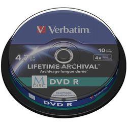 Płyty DVD R Verbatim MDISC Lifetime Archival Print CAKE10