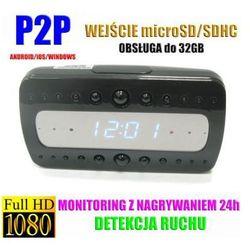 Kamera FULL HD WiFi/P2P (Zasięg Cały Świat!) Ukryta w Zegarku/Budziku.